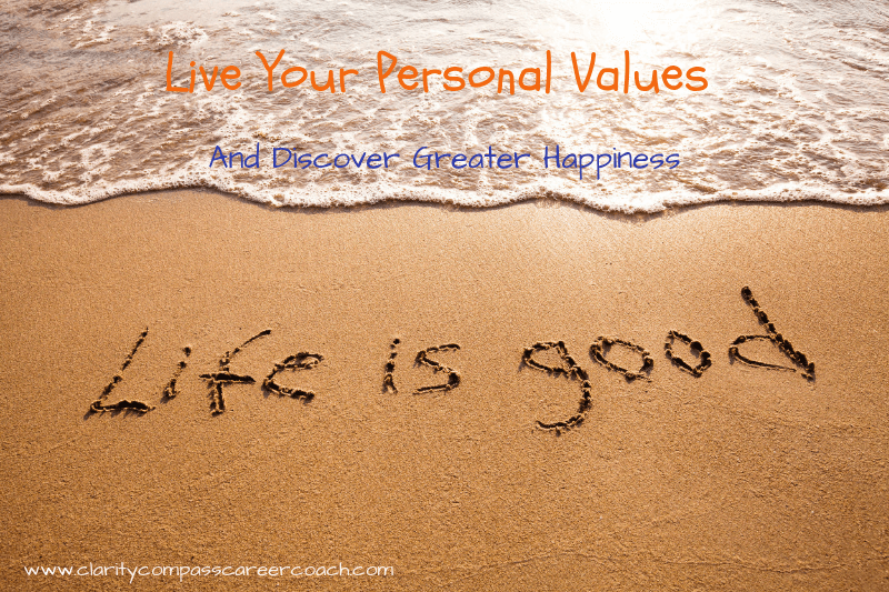 personal values and greater happiness